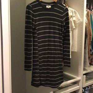 Lou and grey stripe long sleeve dress